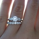 Engraved Engagement and Wedding Rings